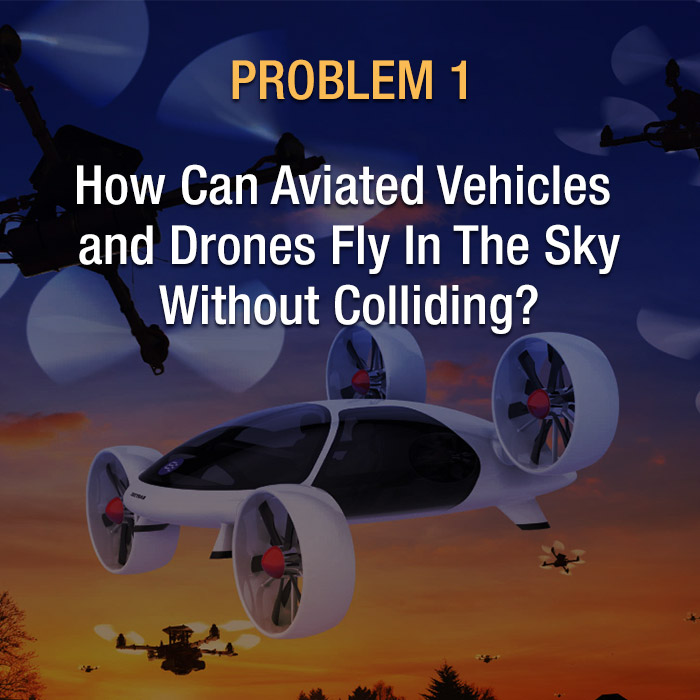 Problem 1 how can aviated vehicles and drones fly in the sky without colliding?
