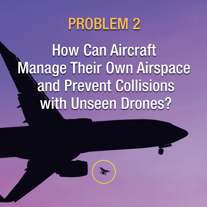 DAR Problem 2 - how can aircraft manage their own airspace and prevent collisions with unseen drones?