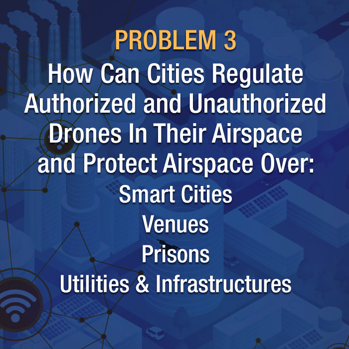 How can cities regulate authorized and unauthorized drones in their airspace over smart cities, venues, prisons and utilities and infrastructures?